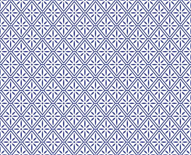 中国の磁器のシームレスなパターン。抽象的な背景。