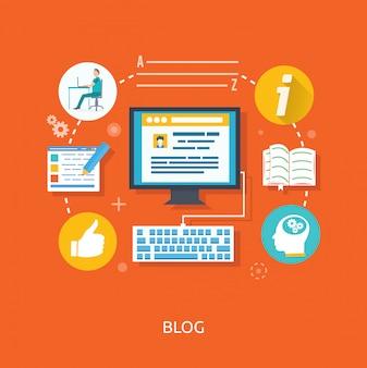 ウェブサイトのブログと執筆