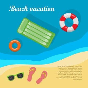 夏休みとビーチバケーションのポスター