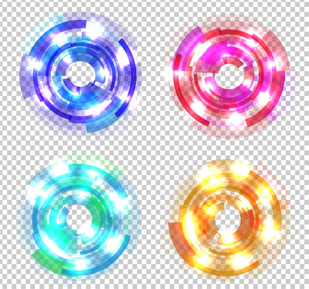 Набор абстрактных цветных кругов