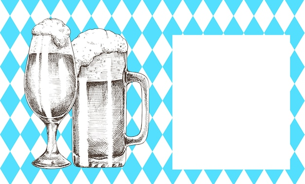 Освежающий напиток бокал октоберфест промо афиша