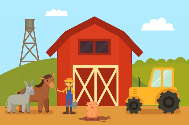 農場と動物の家畜