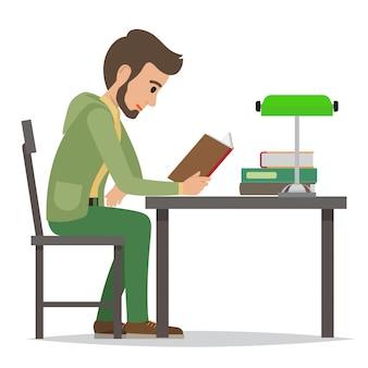 図書館の学生読書教科書
