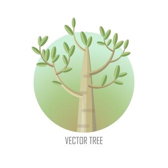緑の葉とポプラの木。