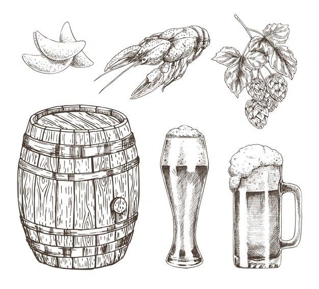 樽ビールホップとスナックセット