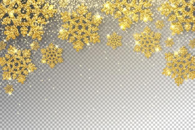 巨大な黄金の雪片の図