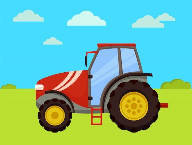 農場のベクトル図のトラクター機械