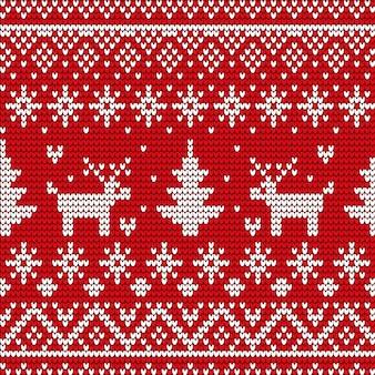 冬のセーターのクリスマス装飾的なシームレスパターン