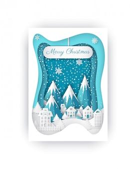 Шаблон поздравительной открытки с рождеством с камнями