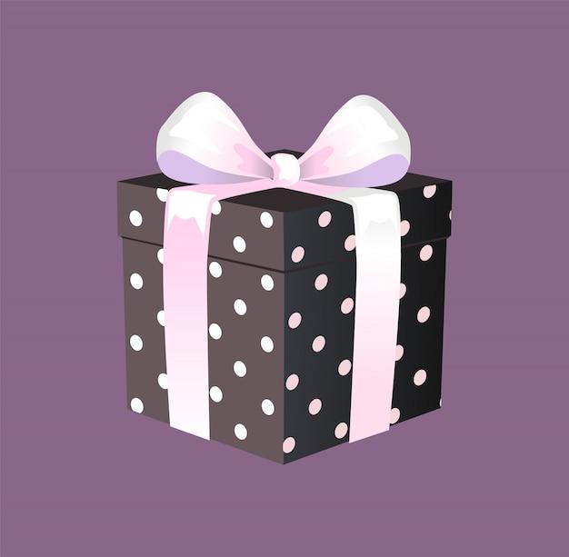 Подарочная коробка с лентой и бантом