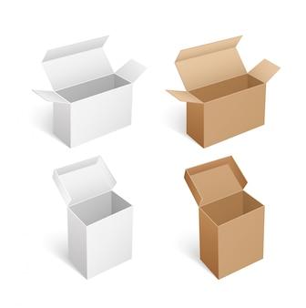 パッケージングモックアップ長方形、正方形、および長い