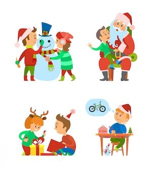 クリスマス休暇と冬のイベントのお祝い
