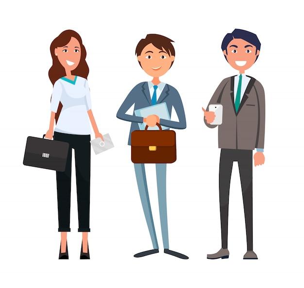 実業家とビジネスマンのパートナー会議