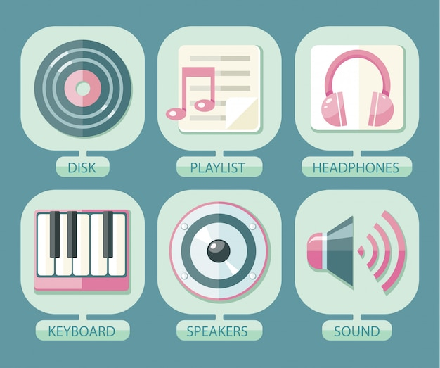 アプリのアイコン音楽のセット