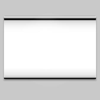 Белый экран проектора чистый фон