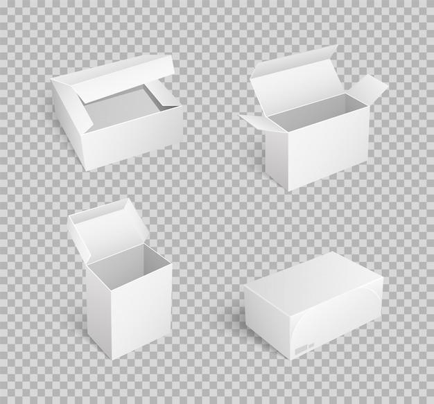 オープントップの空のパッケージとカートンボックス