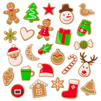 Набор рождественских и рождественских печений