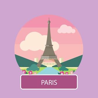 Эйфелева башня, париж. франция