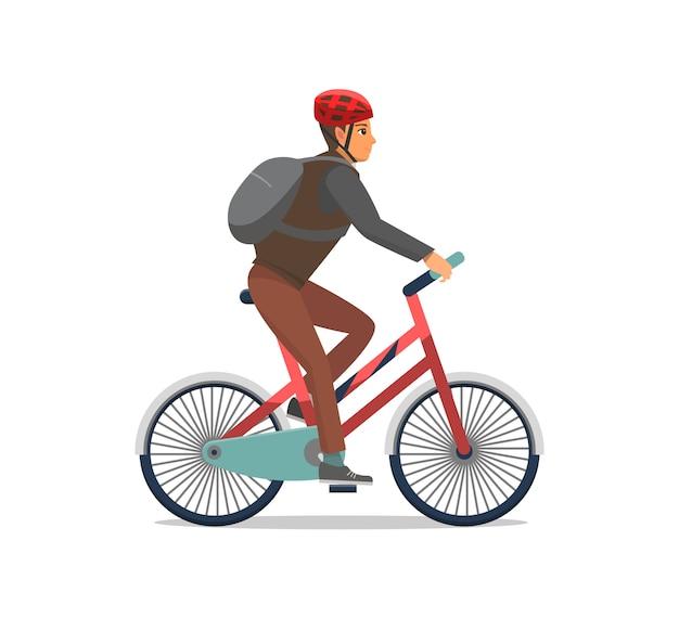 自転車男乗馬自転車バイカー