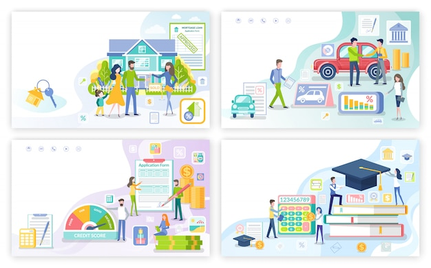 Ипотека и личный заем, студенческий денежный набор