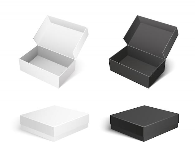 紙とカートンのベクトルで作られたボックスパッケージ