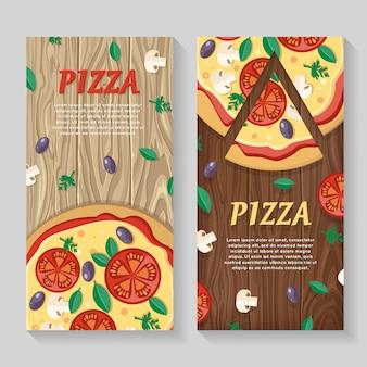 Пицца с помидорами, оливками, грибами и зеленью