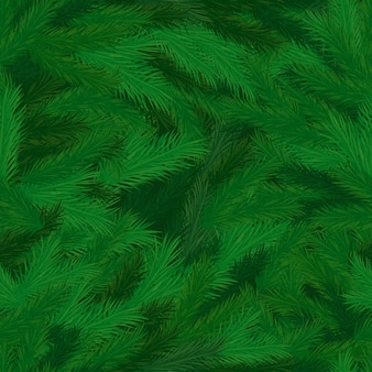 針のシームレスなパターンを持つ松の木の枝