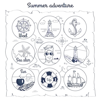 夏の冒険マップ