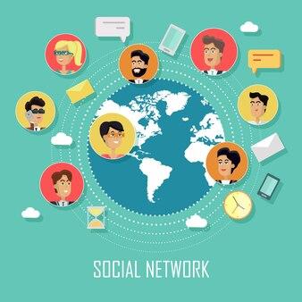 人間と社会的ネットワークの概念