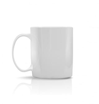 磁器写実的な白いカップ