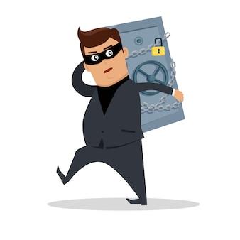 お金を盗むコンセプトフラット