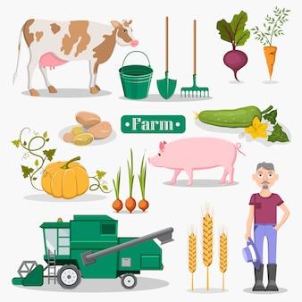 農場の野菜