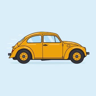 黄色いカブトムシ