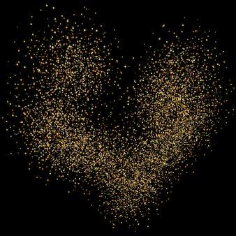 ゴールドの輝きがキラキラの背景。