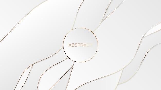 Абстрактное белое золото роскошный фон.