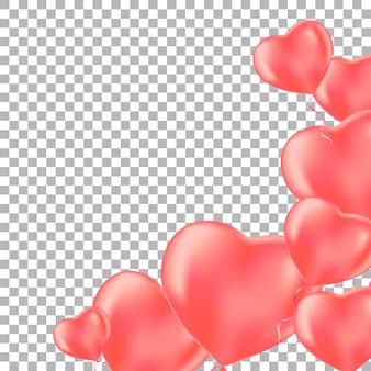 Романтический фон с розовым сердцем шары.