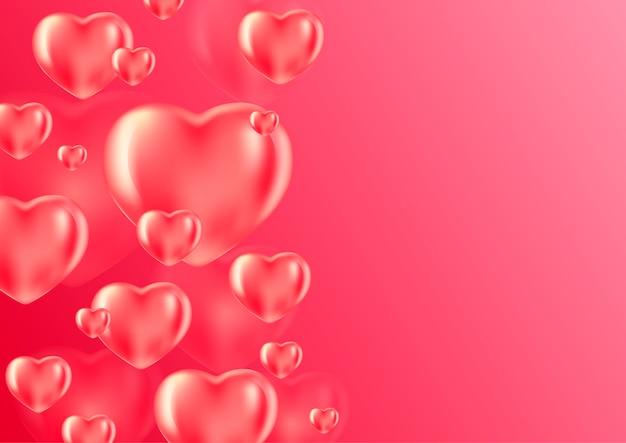 Романтический фон с сердечками