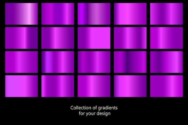 紫色のメタリックテクスチャのセット