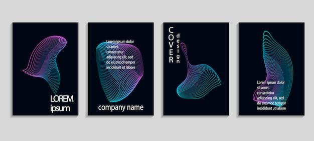 最小限の抽象的なベクトルのカバーデザインテンプレート。