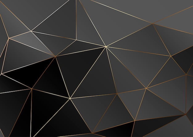 Золотая полигональная текстура.