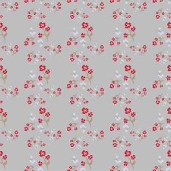 Простой милый узор из маленьких цветов. потертые шикарные миллефлеры.