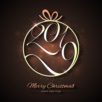 Творческое рождество и новый год с золотым мячом