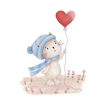 Плюшевый мишка с воздушным шаром