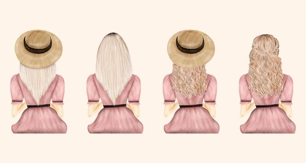 麦わら帽子コレクションのファッション女性