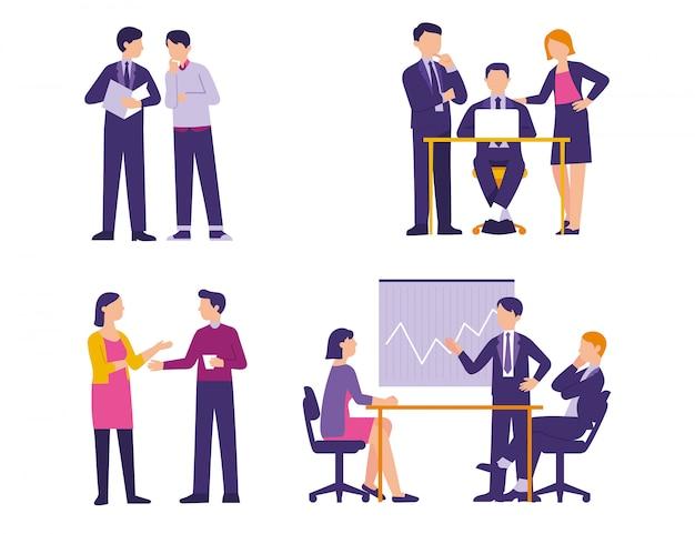 オフィスでの事業活動の概念活動