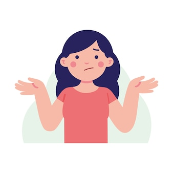 女性は混乱した顔で彼女の手を持ち上げる