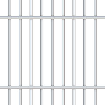 透明で分離された刑務所バー。