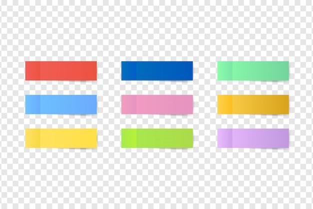 Липкие цветные заметки. почтовый лист бумаги.