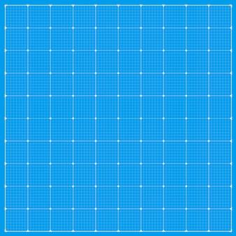 広い青写真の背景。正方形の青写真の背景。ベクトルストックイラスト。