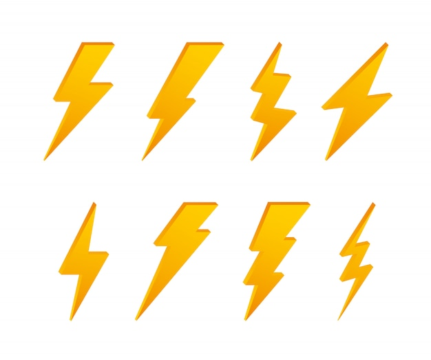 ライトニングボルト。サンダーボルト、照明ストライクの専門知識。 。